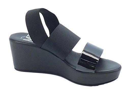 Mercante di Fiori MM232 Nero - Sandalias de vestir de Material Sintético para mujer negro