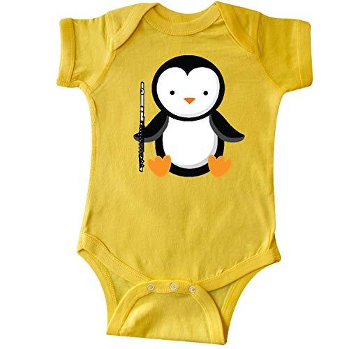 (inktastic - Flute Penguin Music Infant Creeper Newborn Yellow 1d330)