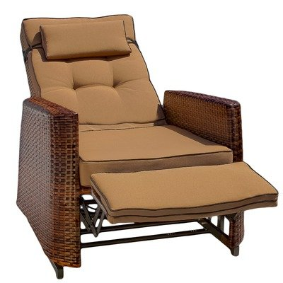 (Best Selling PE Wicker Outdoor Recliner)