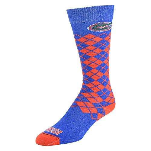 Football Jersey Dress (NCAA Florida Gators Knee High Dress Socks, Large, Blue)