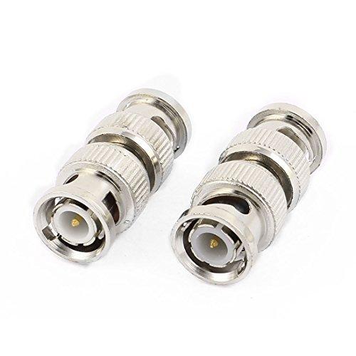 Amazon.com: eDealMax Cámara CCTV BNC Hombre Pareja Cable coaxial conector 2pcs tono de Plata: Electronics