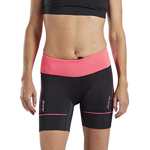 Zoot Core Womens 6-Inch Tri Shorts - Performance Triathlon Shorts with Endura Fabric and Hip Holster Pockets (Blush, Large)