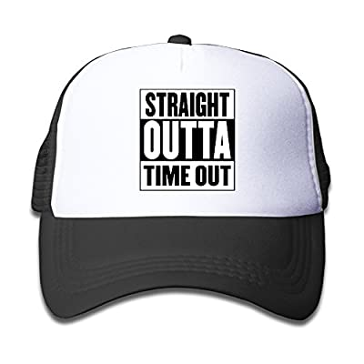 ZH&XQ Mesh Cap Straight Outta Timeout Trucker Hat Adjustable Back Mesh Cap For Baby