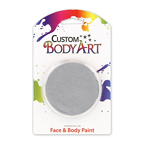 Custom Body Art LARGE 18ml Face Paint Color Single Colors 1-each (ZOMBIE Gray) - Great for Parties, Halloween & (Body Painted Halloween)