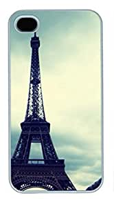iPhone 4 4S Case, iCustomonline Famous Places In France With Names Back Case Cover for iPhone 4 4S
