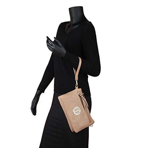 Purse Crossbody Wallet Purple Wallet Wristlet pocket Multi Clutch Shoulder Travel Bag Convertible qfA8BC8xw