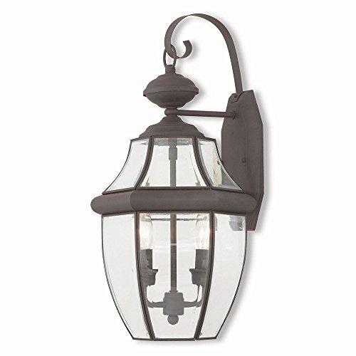 Livex Lighting 20284-07 Monterey 2 Light Bronze Outdoor Wall Lantern,