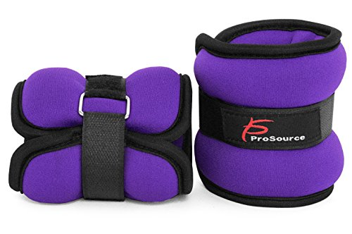 ProSource Ankle Wrist Weights Set of 2, Adjustable Comfort Fit, 1 to 5 lb for Women, and Men