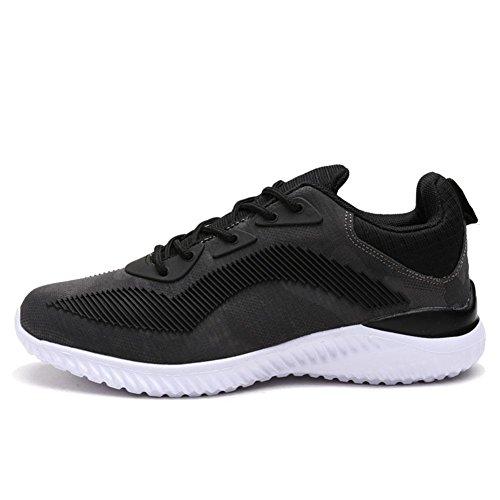 Automne Chaussures Pour Hommes Respirant Tricot Léger Mode Décontractée Alunno Hommes Loisirs Chaussures De Sport, Gris, 44