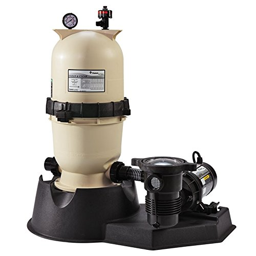 Pentair PNCC0100OO1160 100 SQFT Swimming Pool Cartridge Filter with 1.5 HP OptiFlo Pump