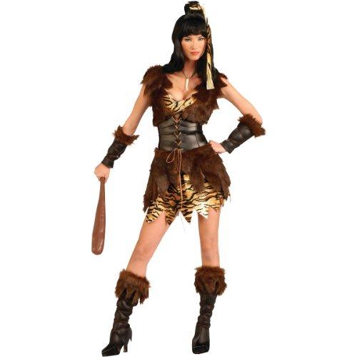 Forum Novelties Women's Cave Cutie Costume, Brown, Standard -