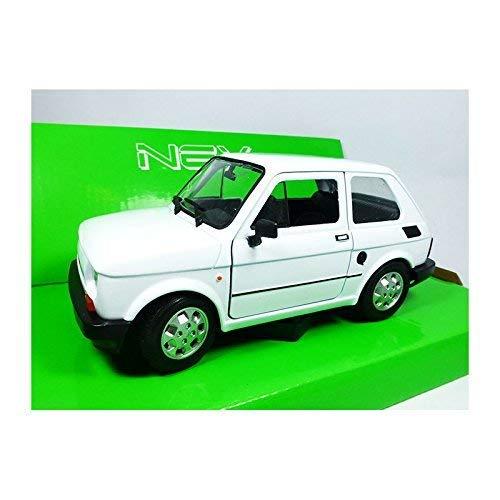 Welly 24066 FIAT 126 Bianco Scala 1:24 Modellino Auto