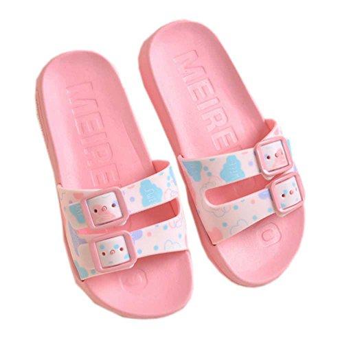 Vokamara 2017 Summer Kid Star Print Slides Antiskid Bathroom Home Indoor Slippers Pink 27 by Vokamara