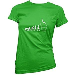 Damen T-Shirt - Evolution of Man - Stufenbarren - 11 Farben - Irisch Grün -...
