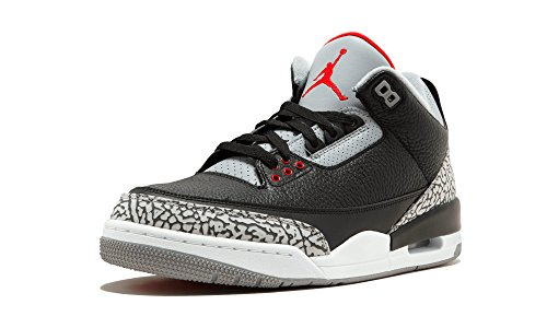 Jordan Air 3 Retro OG Men's Basketball Shoes Black/Fire Red/Cement Grey 854262-001 (10 D(M) US)