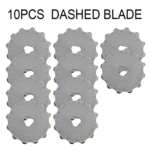 (Rotary Cutter 10PCS 45mm Rotary Cutter Patchwork Crafts Roller Blades for Cloth Fabric Leather Paper Trimmer DIY Home Sewing Tools(C))