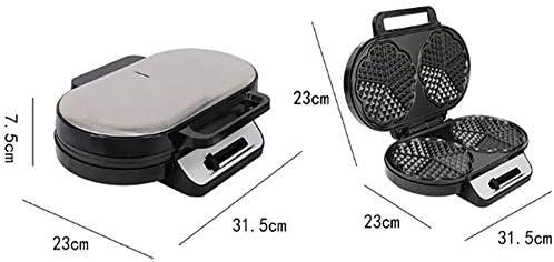 ALY Design rétro Gaufrier, Gaufrier avec revêtement Anti-adhésif pour des gaufres en Forme de cœur 1200W