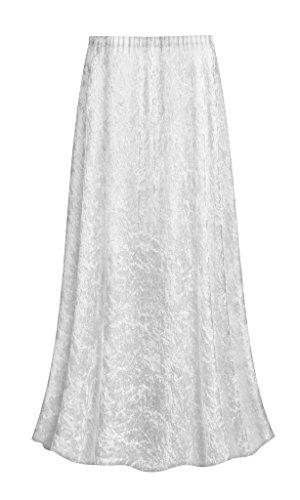 Sanctuarie Designs White Crush Velvet Plus Size Supersize Skirt XL