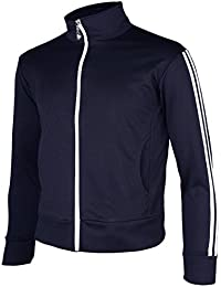 Men's Running Jogging Track Suit Warm Up Jacket Gym Training Wear
