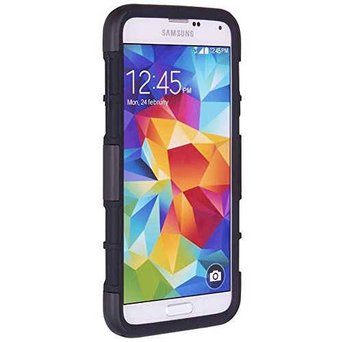 Galaxy S5 Case, Galaxy S5 holster Case, Vogue Shop Samsung Galaxy S5 Case Cover - Shock-Absorption / High Impact Resistant Holster Belt Clip Full Body Hybrid Armor Protection Defender Case Cover for Samsung Galaxy S5 [Stand Feature] [Don't Fit for Galaxy S5 Active] (Galaxy S 5 Belt Clip)