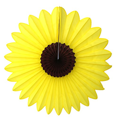 6-pack 18 Inch Large Tissue Paper Sunflower Fan