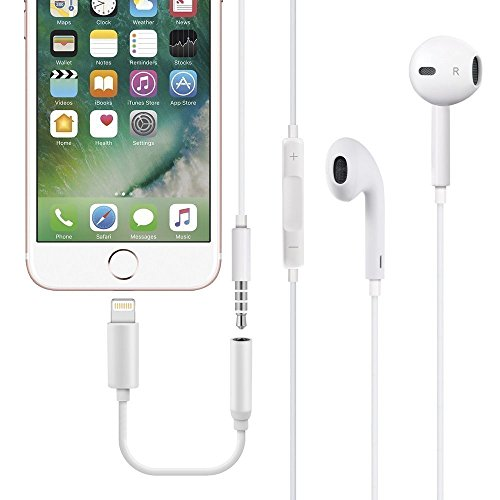 Compatible iPhone X Adapter Headphone Jack, Lightning to 3.5mm Headphone Jack Adapter Dongle Compatible iPhone X 10/ iPhone 8/8 Plus/iPhone 7/7 Plus iPod Touch iPad Support iOS 10.3 11 Later by ZestyChef (Image #2)
