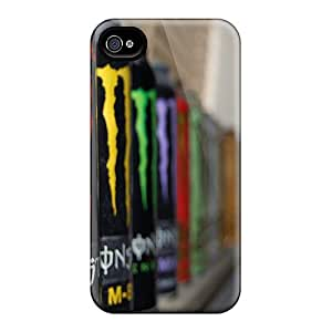 Ultra Slim Fit Hard JBcases Case Cover Specially Made For Iphone 4/4s- All Monster Drinks