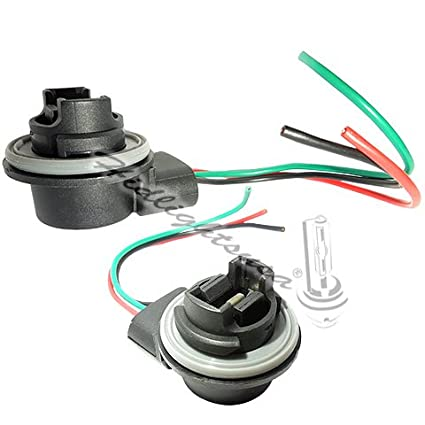 amazon com: 3156 3157 wiring harness sockets for led bulbs, turn signal  lights, brake lights: automotive