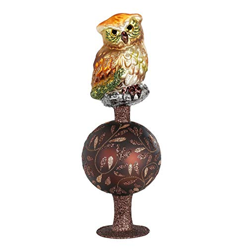 Glass Inge Glas Up in the Tree Tops Owl Bird German...