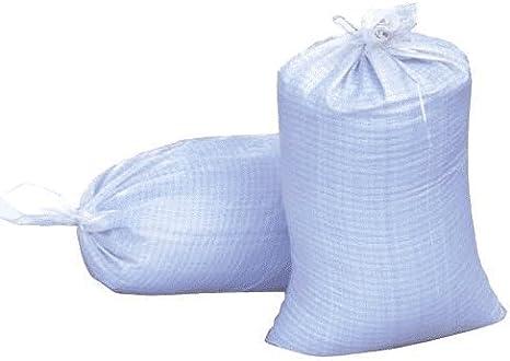- AB-30-2-161 14 x 21 Woven Polypropylene Sandbags 100 Bags White
