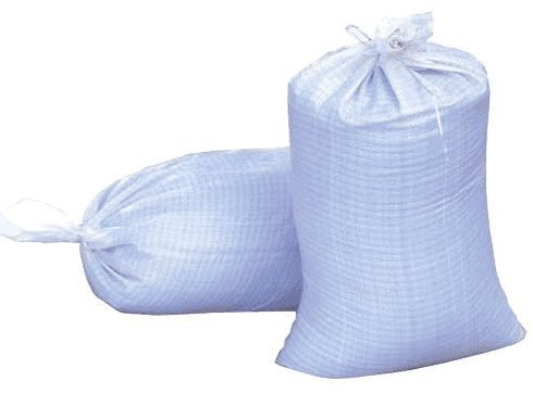 Sand Bags, 14 X 26 Empty White Woven Polypropylene Sandbags with UV Coating Protection, Ties Included, Waterproof, Dust Proof. (20 Bags) ()