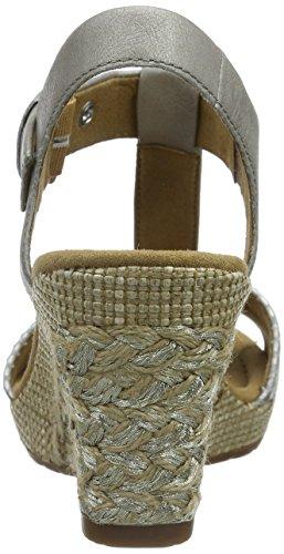 Gabor Gabor Comfort - Sandalias de cuna para mujer Plateado (13 taupe/arg.ba.st)
