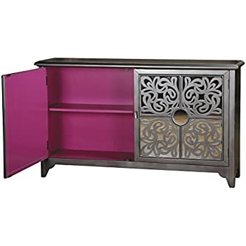 Amazoncom Elegant Lighting Drawer Door Cabinet In Silver - Colorful glass drawers that can form an art object