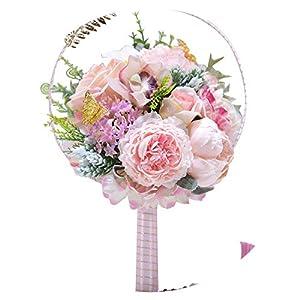 2019 Wedding Bouquet Bridal Flowers Artificial Bridal Bouquet Bride Holding Bouquet Fan Wedding Flowers Bridal Ramos de Novia 3