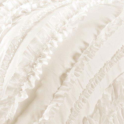 Lush Decor Belle 4 Piece Comforter Set, Queen, Ivory