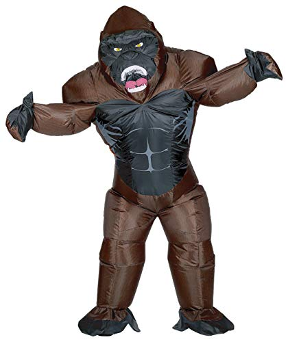 JF Deco Gorilla Costume Inflatable Body Suit Halloween Costumes Party for Mens & Womens Adult Size