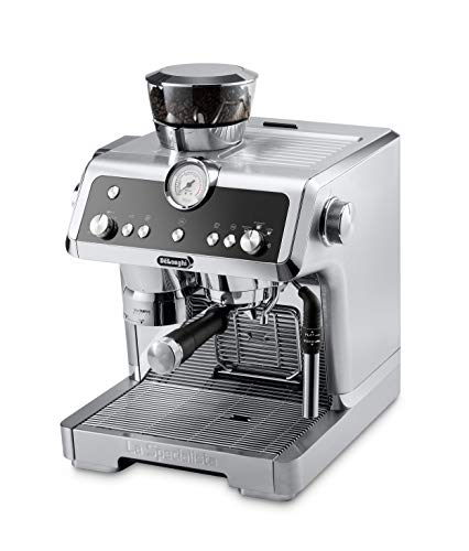 De'Longhi La Specialista Espresso Machine with Sensor Grinder, Dual Heating System, Advanced Cappuccino System & Hot Water Spout for Americano Coffee or Tea, Stainless Steel, EC9335M