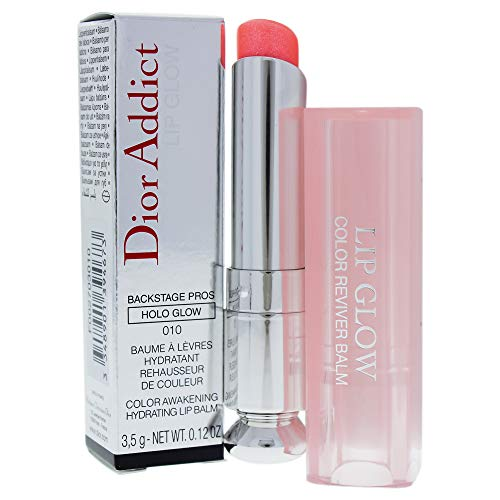Christian Dior Addict Lip Glow 010 Holo Pink for Women, 0.12 Ounce ()