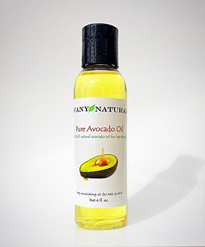 Avocado Oil Natural Pure Body Hair Skin and Nail Moisturizer Anti-Aging Anti-Wrinkle Skincare Healthy Shine for Hair Care Also Great as Massage Oil (4 oz) by Avany