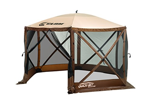 Quick Set Escape Canopies, X-Large 150 x 150-Inch Portable Popup Gazebo Tent 6-8 Person, Brown