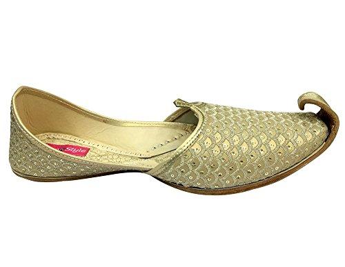 Step N Style Hombres Zapatos De Khussa Mojari Punjabi Jooti Étnico Hippy Rajasthani Jaipuri