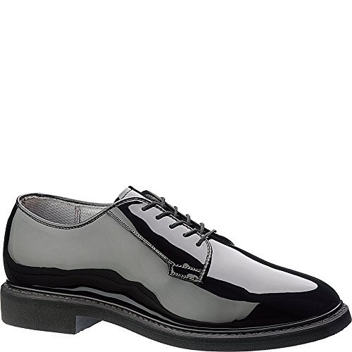 Bates Men's Lites Black High Gloss Oxford (9.5 4E in Black)
