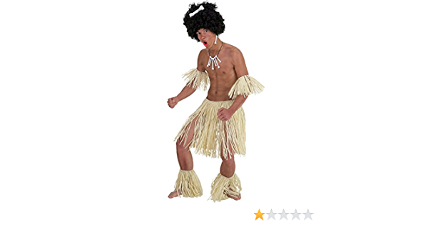 Ladies Zulu Warrior Around the World Hula Party Fancy Dress Costume Outfit 8-18