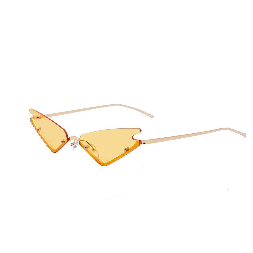 SERYU Polarized Sunglasses for Women, Mirrored Lens Fashion Goggle Eyewear Yellow