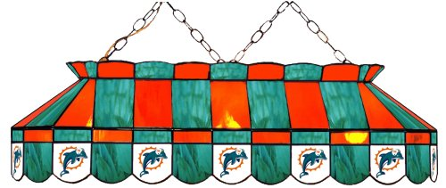 (Imperial Officially Licensed NFL Merchandise: Tiffany-Style Stained Glass Billiard/Pool Table Light, Miami)