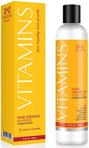 Nourish Beaute Vitamins Conditioner for Hair Loss that Promotes Hair Regrowth, Volume and Thickening with Biotin, DHT Blockers, Antioxidants, Oils and Extracts, For Men and Women, 1 10 Ounce