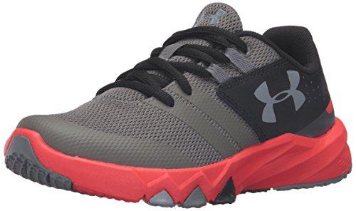 Under Armour Kids Boys Pre School Primed Running Shoe, Graphite/Anthem Red/Steel