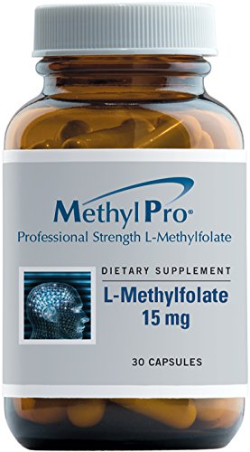MethylPro - L-Methylfolate (5-MTHF) 15 mg - 30 Capsules, Professional Strength B9