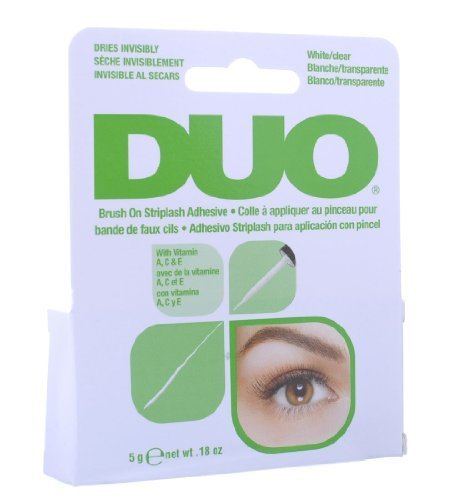 Duo Brush On Striplash Adhesive White/Clear 5g by Duo