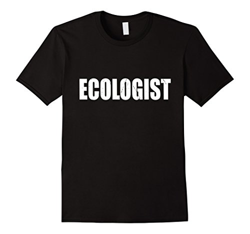 Ecologist Costume (Mens Ecologist T Shirt Halloween Costume Funny Cute Distressed Small Black)